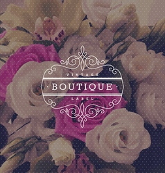 Boutique flourishes logo vector