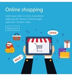 On line store shopping vector
