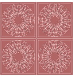 Pattern with circles on the pink backdrop vector