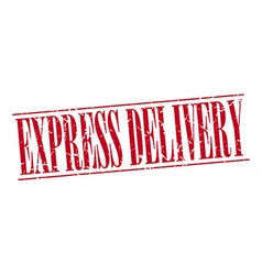 Express delivery red grunge vintage stamp isolated vector