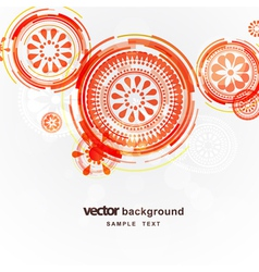 Mechanical circle background vector