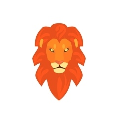 Lions head realistic simplified drawing vector