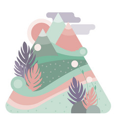 Abstract high mountains pastel color flat design vector