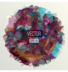 Abstract round triangles background for design vector