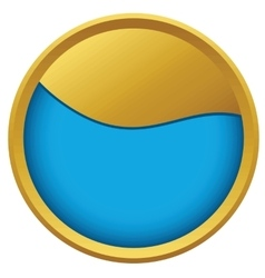 Abstract wave emblem vector