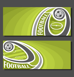 Banners for football vector