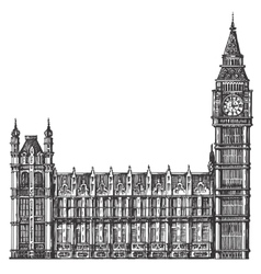 big Ben logo design template London or vector image vector image