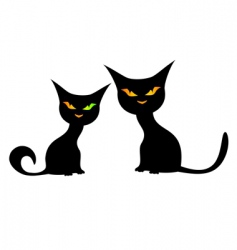 black cats vector image vector image