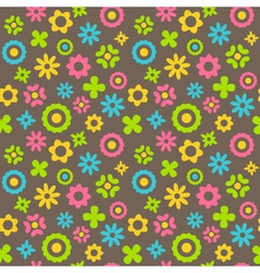 Bright abstract seamless pattern with flowers vector image