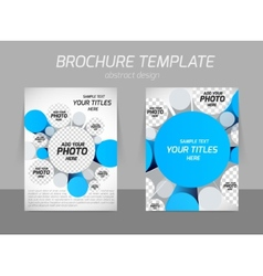 Brochure with 3d circles vector