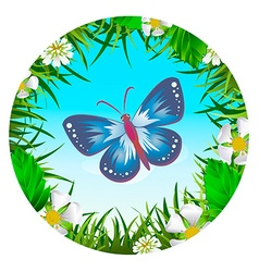 Butterfly in a clearing 2 vector image vector image