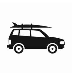 Car with luggage icon simple style vector image vector image