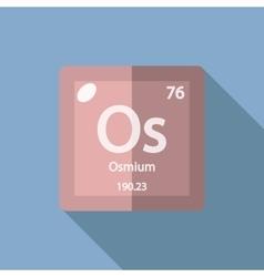 Chemical element osmium flat vector