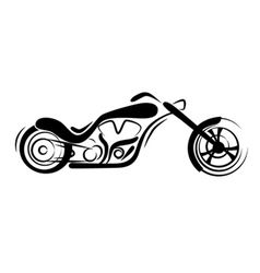 chopper motorcycle vector image vector image