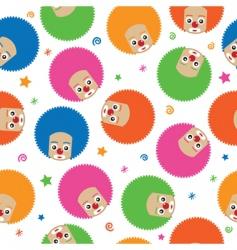 clown pattern vector image vector image