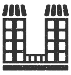 Company building icon rubber stamp vector