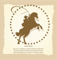 Cowboy rodeo man vintage backdrop vector
