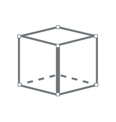 Cube 3d graphic design abstract perspective vector