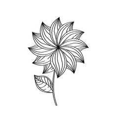 Dahlia flower decoration sketch vector