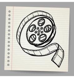 Doodle reel of film vector