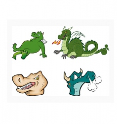 dragons collection vector image