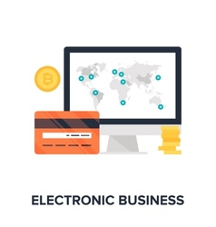 Electronic Business vector image