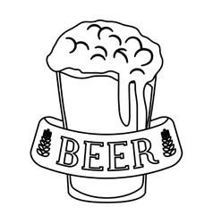 Figure glass beer icon image design vector