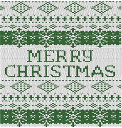 happy christmas inscription knitted vector image