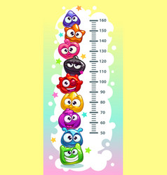 Kids height chart vector