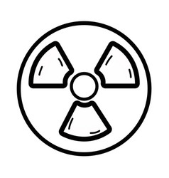 line radiation symbol to dangerous and ecology vector image