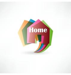 Real estate concept design element speech bubble vector image vector image