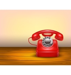Red telephone concept vector