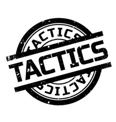 Tactics rubber stamp vector