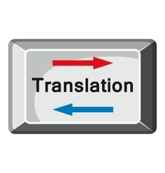 Translate button icon cartoon style vector