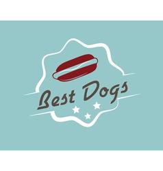 Vintage hotdog emblem vector