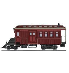 Vintage motor railcar vector