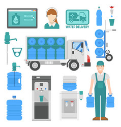 water delivery set of design elements vector image
