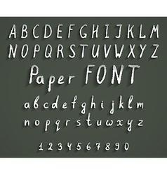 Handwriting font vector