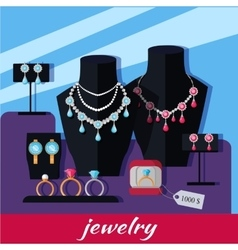 Jewelry Shop Banner vector image