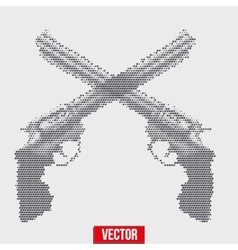 Revolvers vintage halftone style vector