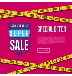 Special offer website template with text vector