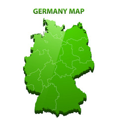 Highly detailed three dimensional map of germany vector