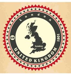 Vintage label-sticker cards of united kingdom vector