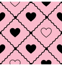 Seamless vector background with hearts vector