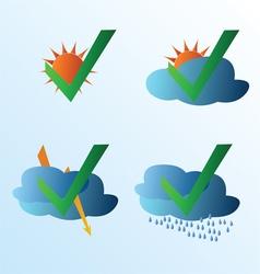 Weather symbol set vector image