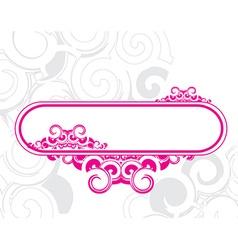 Retro swirl banners vector image