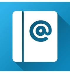 Emails gradient square icon vector