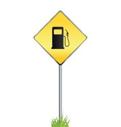 Gas station warning sign vector