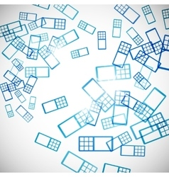 abstract background phone vector image