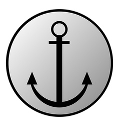 Anchor button vector image